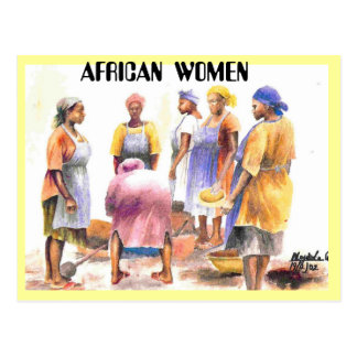 mujer del africano 2, MUJERES AFRICANAS Tarjetas Postales