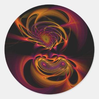 Mujer del aries - pegatina del fractal