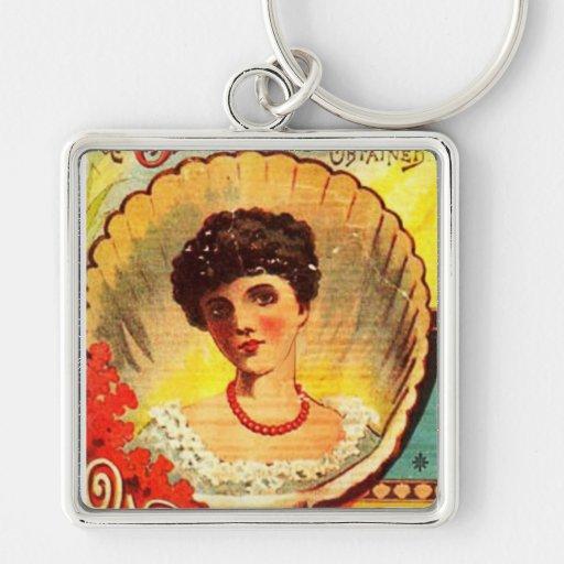 Mujer del boticario del vintage llaveros personalizados