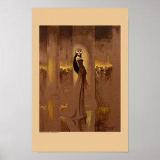 Mujer del búho póster