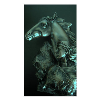 mujer del caballo tarjetas de visita