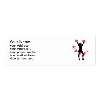 Mujer del chica de la animadora tarjetas de visita mini