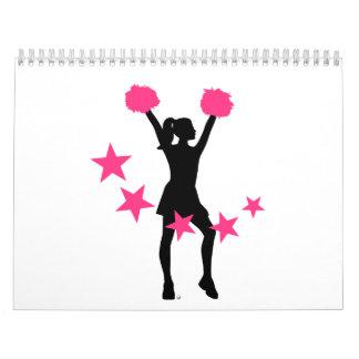 Mujer del chica de la animadora calendario de pared