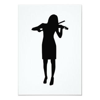 Mujer del chica del violinista comunicados personalizados