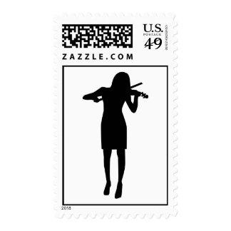 Mujer del chica del violinista sello