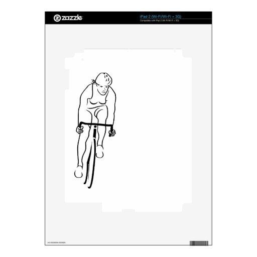 Mujer del ciclo calcomanías para el iPad 2