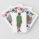 Mujer del ejército baraja de cartas