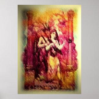 Mujer del escarlata con Baphomet Impresiones