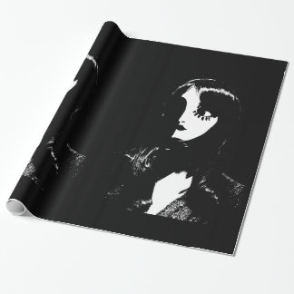 Mujer del estilo de Sin City - en fondo negro