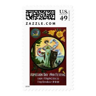 Mujer del festival del día de admisión de sellos