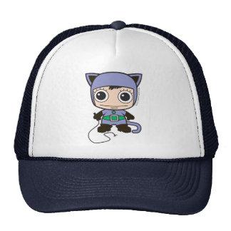 Mujer del gato de Chibi Gorra