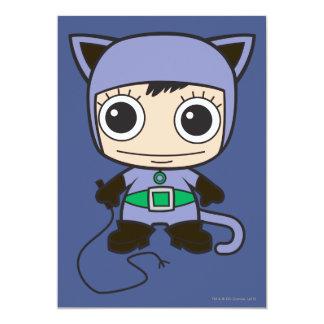 """Mujer del gato de Chibi Invitación 5"""" X 7"""""""