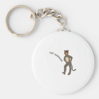 Mujer del gato llaveros personalizados