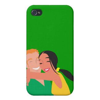 mujer del hombre de la datación del amor del inlov iPhone 4 cárcasa