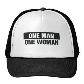 Mujer del hombre uno de la CAMISETA una Gorro De Camionero