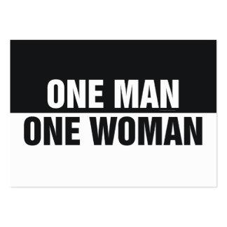 Mujer del hombre uno de la CAMISETA una Tarjetas De Visita Grandes