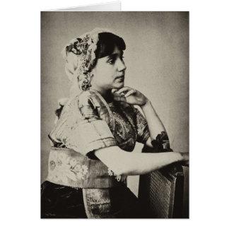 Mujer del Moorish, Tánger, Marruecos, 1898 Tarjeta Pequeña