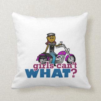 Mujer del motorista almohadas