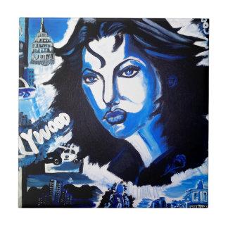 Mujer del mundo azulejo cuadrado pequeño