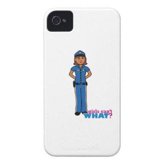 Mujer del oficial de policía iPhone 4 Case-Mate cobertura