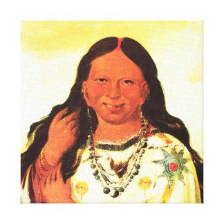 Mujer del Ojibwa - George Catlin Impresión De Lienzo