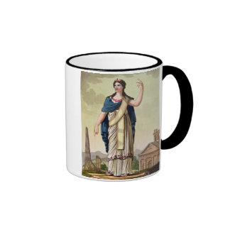 """Mujer del Patrician, no. 26 de """"Roma antigua"""", Taza De Dos Colores"""