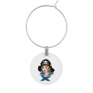 Mujer del pirata identificadores de copas