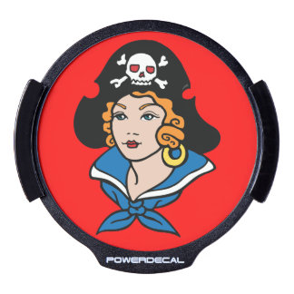 Mujer del pirata sticker LED para ventana
