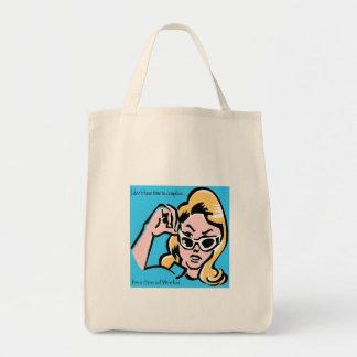 Mujer del poder bolsas lienzo