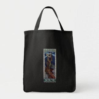 mujer del poster del nouveau del arte del lucero d bolsa lienzo