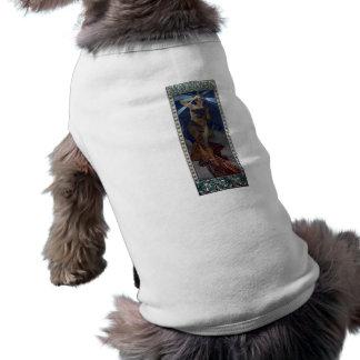 mujer del poster del nouveau del arte del lucero d ropa de perros