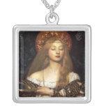 Mujer del Pre-Raphaelite de la vanidad Colgantes Personalizados