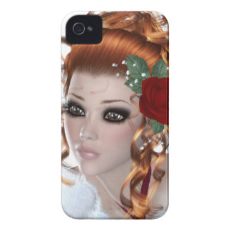 Mujer del Redhead Case-Mate iPhone 4 Carcasas