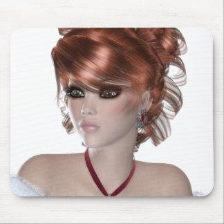 Mujer del Redhead Alfombrillas De Raton