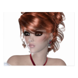Mujer del Redhead Postales