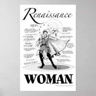 Mujer del renacimiento póster
