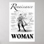 Mujer del renacimiento posters