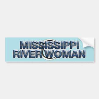 Mujer del río Misisipi de la CAMISETA Etiqueta De Parachoque