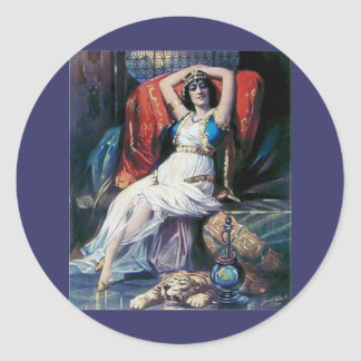 Mujer del teatro del poster del anuncio del pegatina redonda