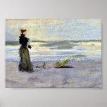 Mujer del Victorian al lado del agua Impresiones