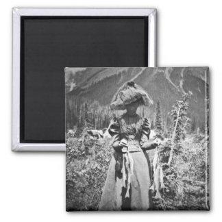 Mujer del Victorian con la diapositiva de cristal Iman Para Frigorífico