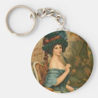 Mujer del Victorian Llavero Personalizado