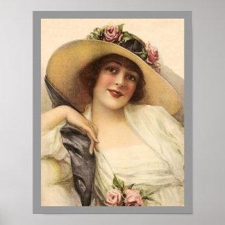 Mujer del Victorian Póster