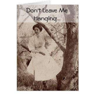 Mujer del Victorian Tarjeton