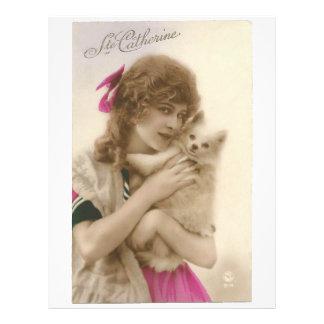Mujer del Victorian y papel blanco del libro de Membretes Personalizados
