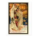 Mujer del vintage con el cabo postal