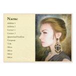 Mujer digital clásica de la pintura del retrato de tarjeta personal