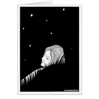 Mujer durmiente tarjeta de felicitación