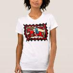 Mujer ecuestre camiseta