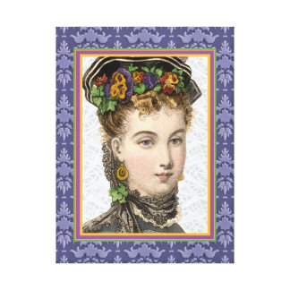 Mujer elegante del Victorian con los pensamientos  Impresión En Lienzo Estirada